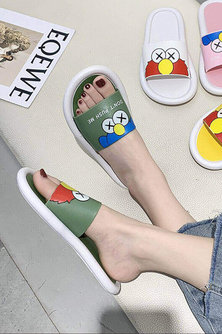 Trendy Character Rubber Slippers