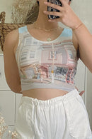 Tasha Printed Cropped Top
