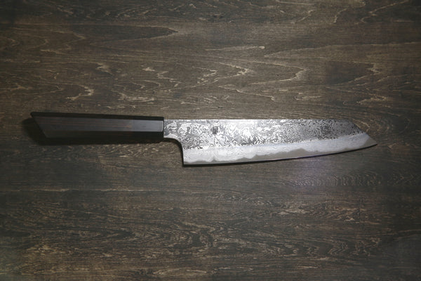 "Black Kurouchi Damascus ""Shadow"" Gyuto Chef's Knife (Type B)"