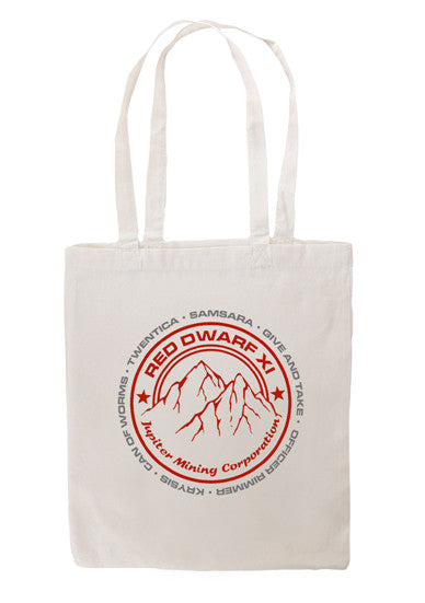 Natural Red Dwarf XI JMC Logo Tote Bag