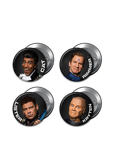 Red Dwarf XI 4 x Button Badge Set