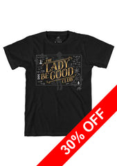 Black Red Dwarf XI 'Lady Be Good Club' Glow in the Dark T-Shirt