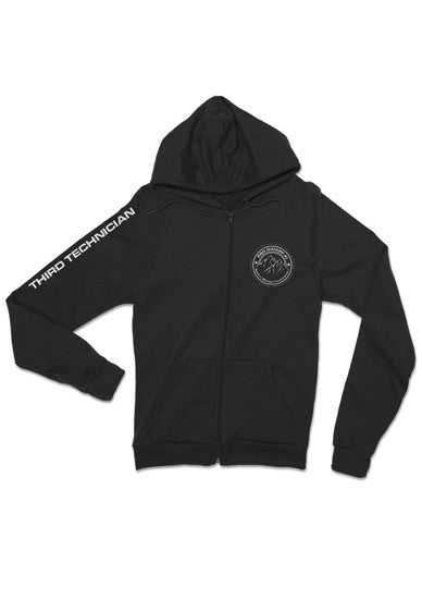 Black Red Dwarf XI Third Technician Crew Zip Through Hoodie