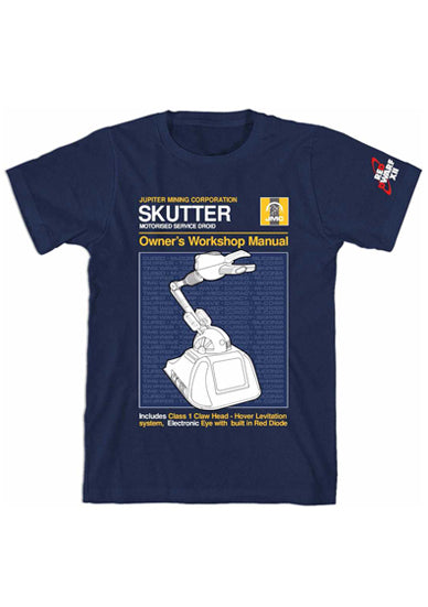 SKUTTER MANUAL STYLE T-SHIRT - NAVY