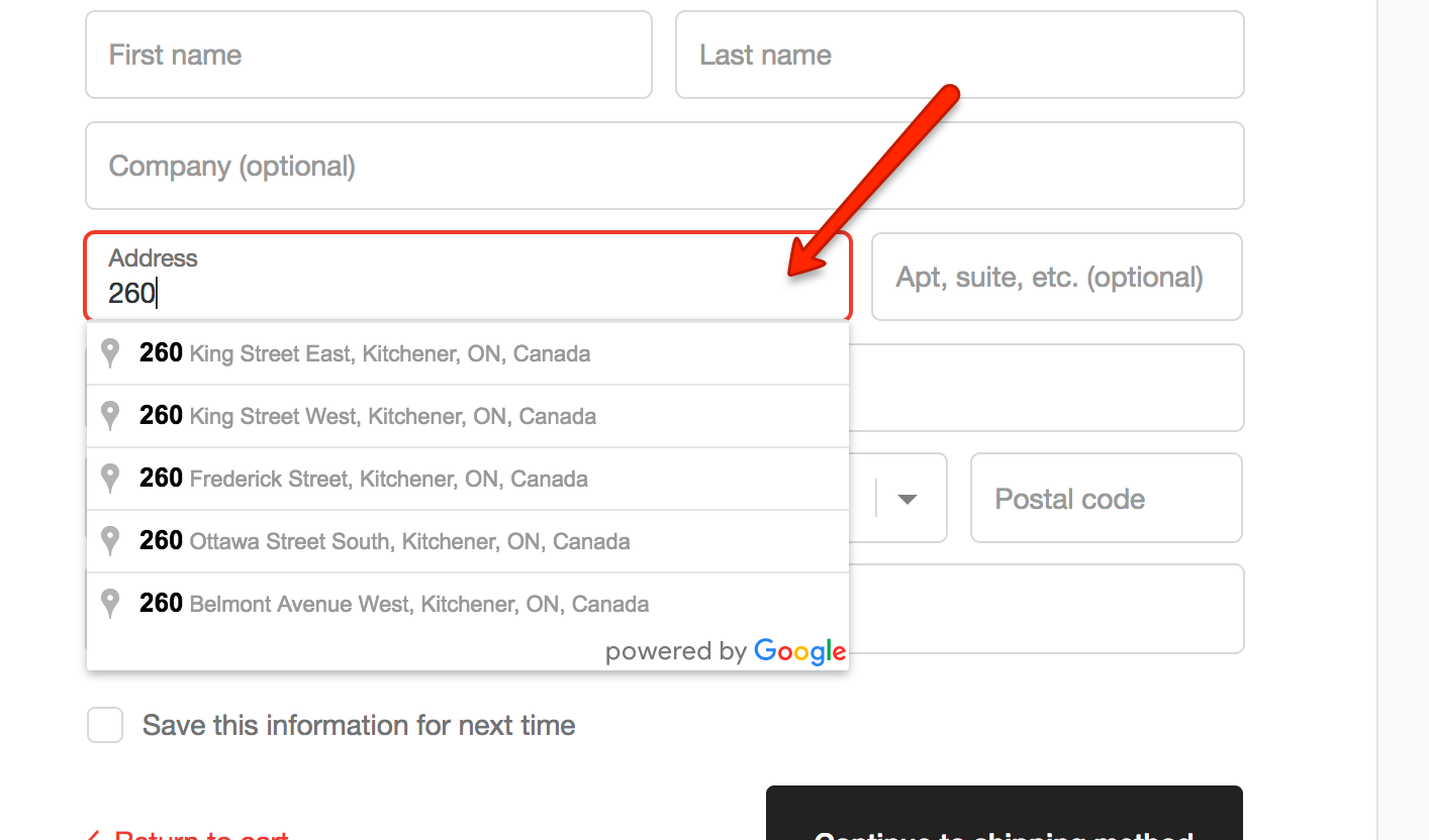 Reduce Returns On Shopify Plus By Helping Customers Autocomplete - Us zip code format validation javascript