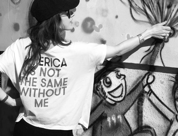 America Is Not The Same Without Me T-shirt Women Selfie Perfect Oversize