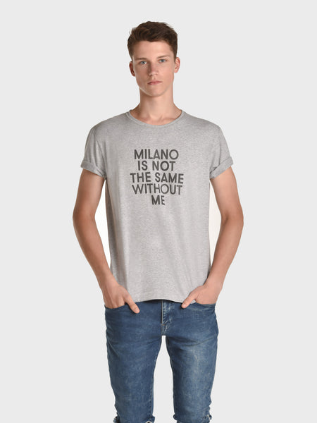 ENDLESS OUTFITS TSHIRT FOR MEN, HEATHER GRAY, AMERICA IS NOT THE SAME WITHOUT ME