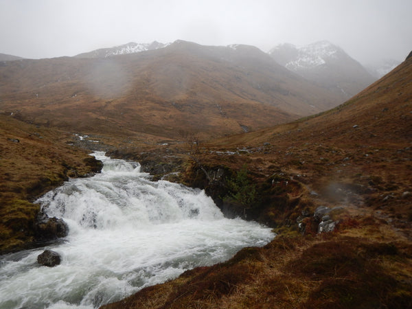 Wild weather on the Kintail Five Sisters