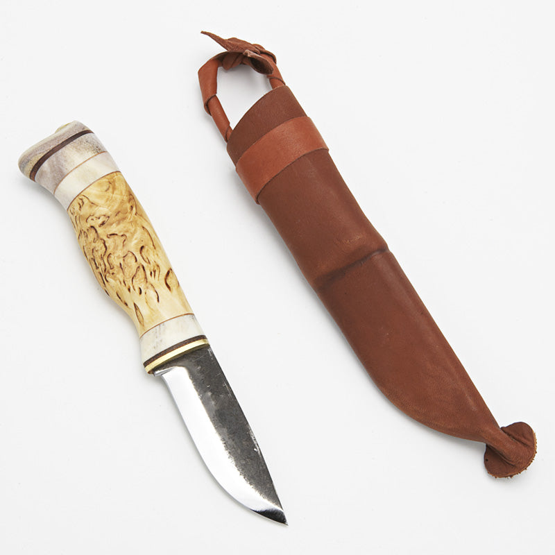 Wood Jewel Drop-Point Puukko Knife (23LP)