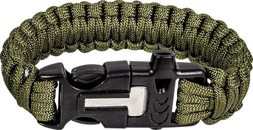 Highlander Paracord Bracelet With Whistle & Firesteel - Trailblazer Outdoors, Pickering