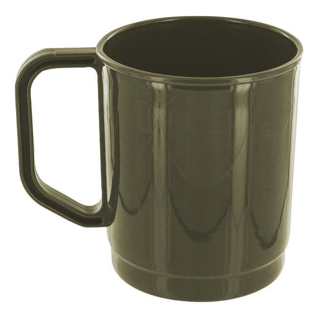 Highlander Plastic Mug 275ml Olive - Trailblazer Outdoors, Pickering