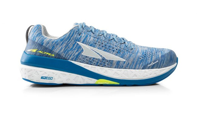Altra Paradigm 4 Mens ZERO DROP HIGH CUSHIONING Road Running Shoes White/Blue - Trailblazer Outdoors, Pickering