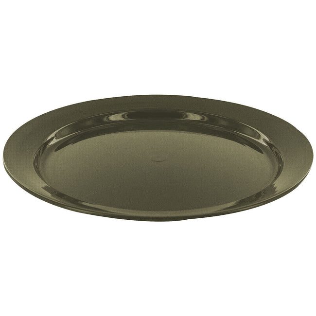 Highlander 24 cm Plastic Flat Plate Olive - Trailblazer Outdoors, Pickering