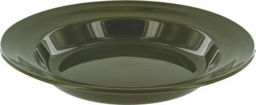 Highlander Green Plastic Deep Plate 22cm - Trailblazer Outdoors, Pickering