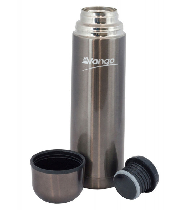 Vango 0.350 Litre Flask Gunmetal Finish Stainless Steel - Trailblazer Outdoors, Pickering