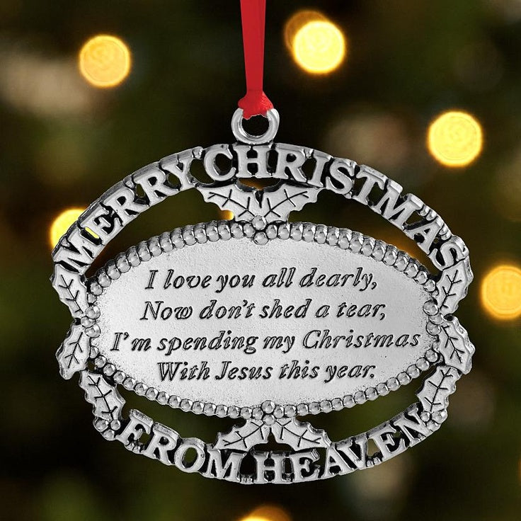 Merry Christmas From Heaven Christmas Ornament Empire