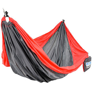 Two Person Travel Hammock - Red/Gray TO ORDER