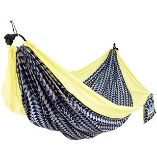 One Person Travel Hammock - Navy/Geotriangle TO ORDER