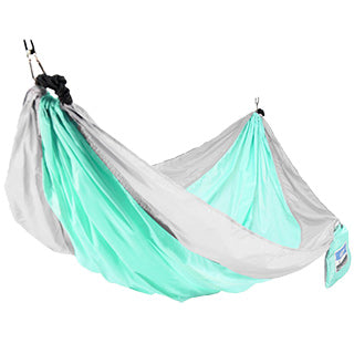 One Person Travel Hammock - Gray/Mint TO ORDER