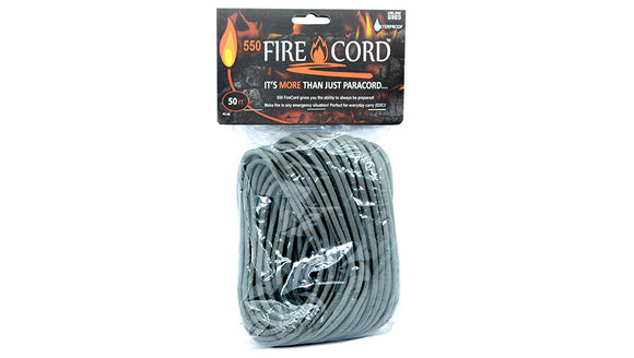 Live Fire Gear 550 FireCord Foliage Green 50 Feet TO ORDER