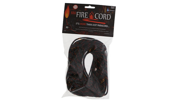 Live Fire Gear 550 FireCord Thin Red Line 50 Feet TO ORDER