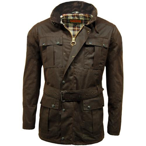 Game Continental Belted Motorcyle Wax Jacket