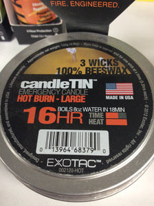 Exotac candletin 16hr hot burn large