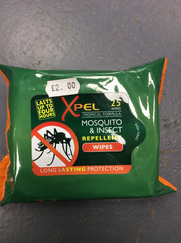 Mosquito insect repellent wipes
