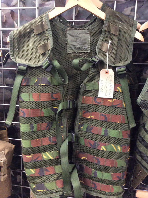 Dutch woodland tactical modular vest molle