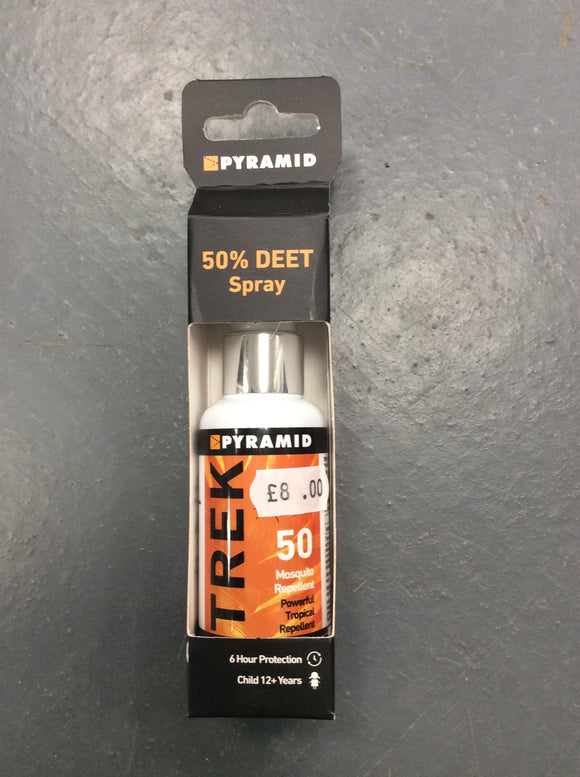 Deet 50% spray trek insect repellent mosquito midge