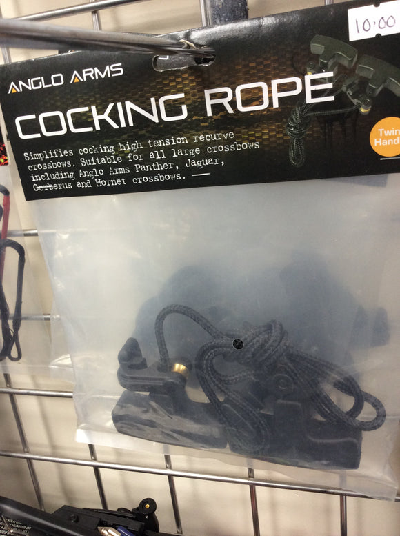 Cocking rope for large crossbows
