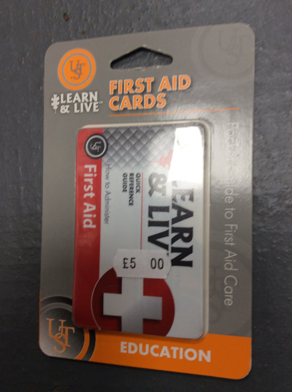 Ust learn and live first aid cards