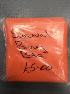 Large orange survival bivy bag