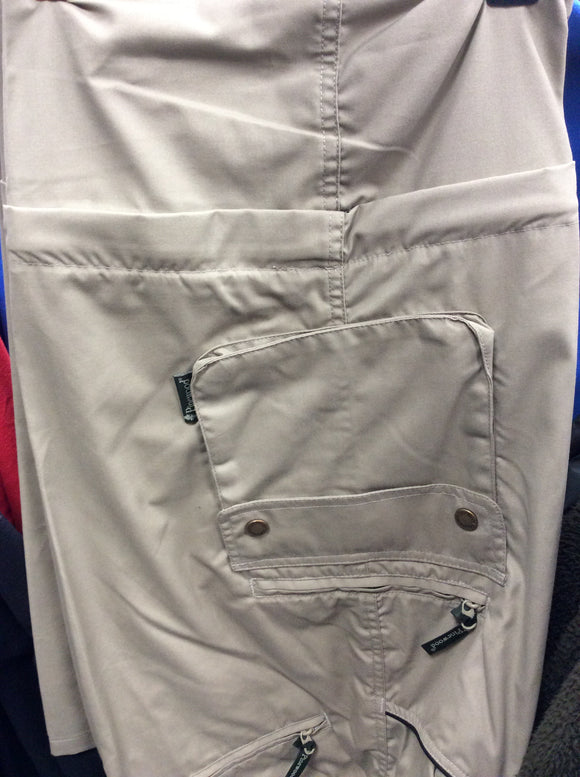 9281 pinewood zip off Sahara khaki trousers w38