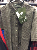 9033 pinewood shirt sleeve check green shirt