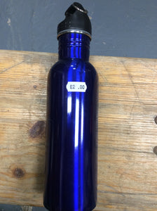 Blue wide mouth drinking bottle ex demo