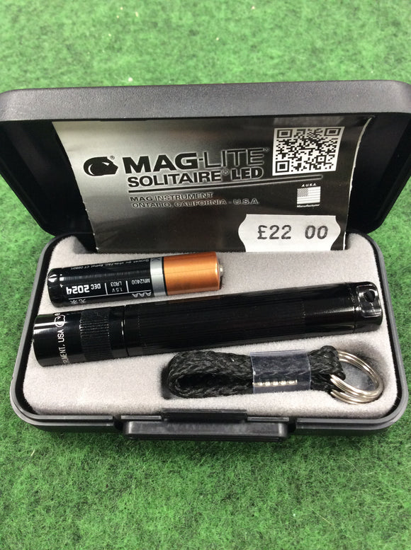 Black maglite solitaire led box