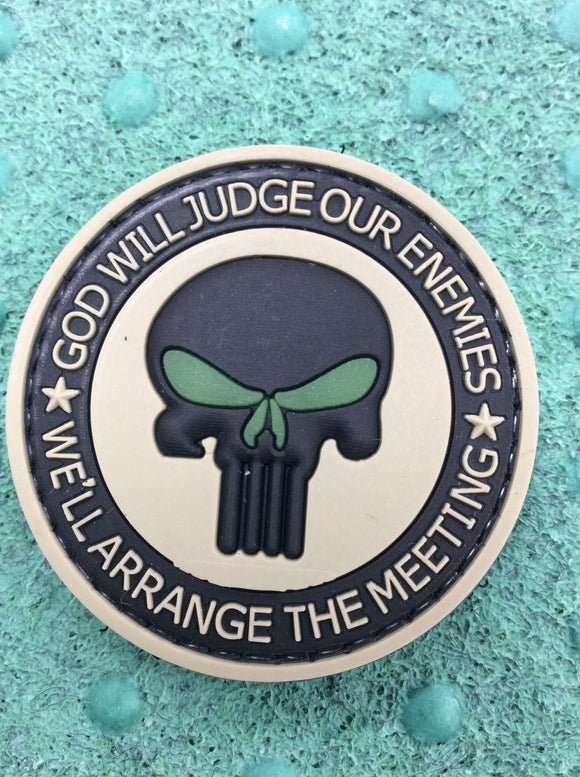 God will judge Velcro patch