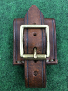 Handmade leather buckle dangler