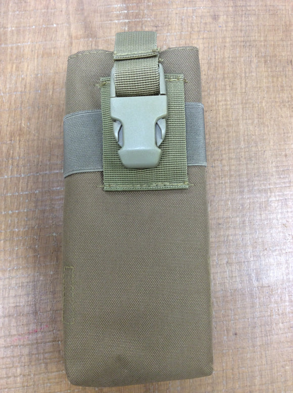 Coyote tan brown molle radio pouch