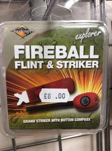 Bcb bushcraft fireball flint and striker Ferro rod