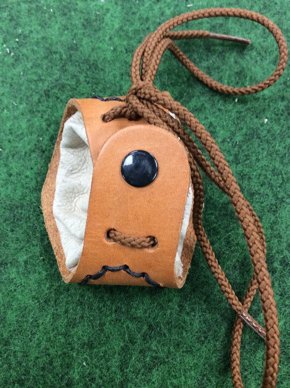 Handmade mini coin tinder pouch leather