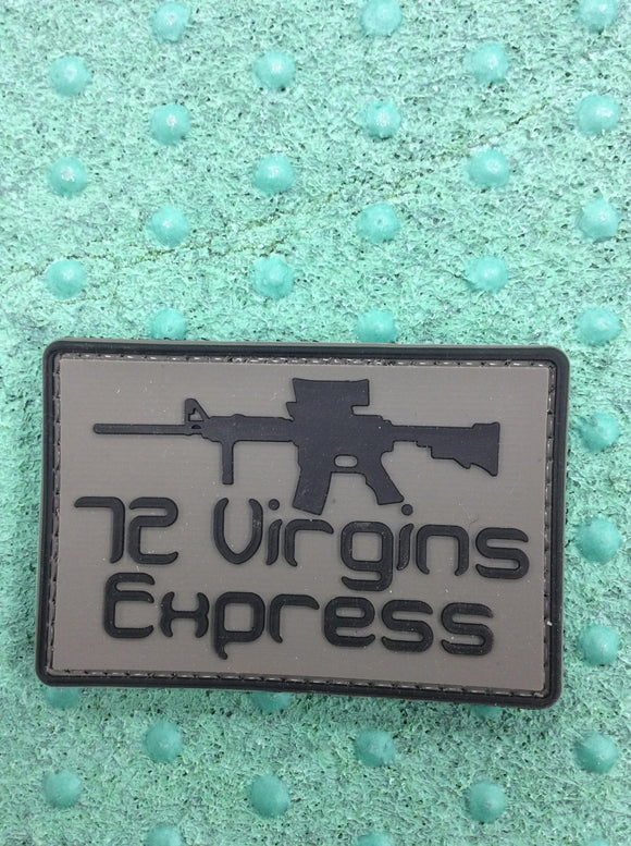 72 virgin express Velcro patch