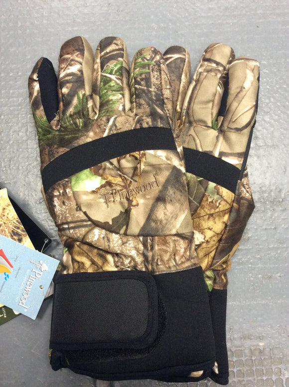 Pinewood real tree camo windproof waterproof breathable gloves