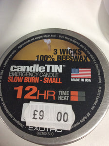 Exotac candletin slow burn small 12hr