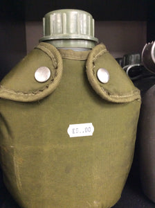 Water bottle with cover ex army