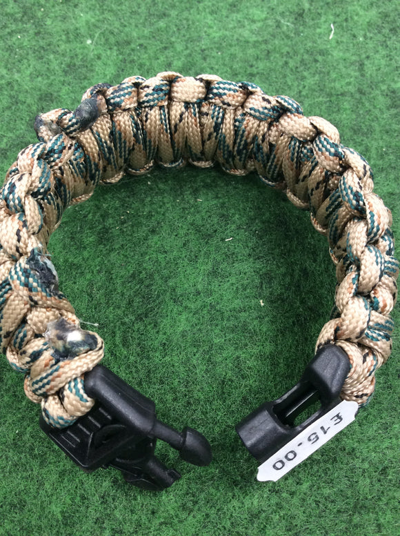 Escape and evasion greyman paracord survival bracelet with hand cuff key