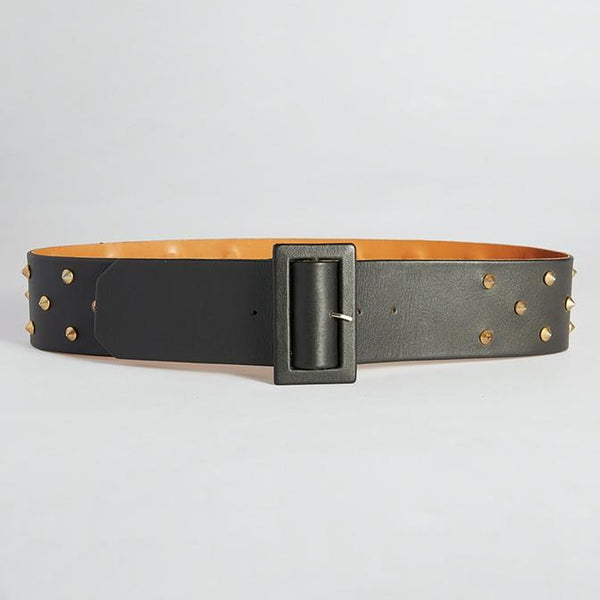 caravan & co claude wide leather belt