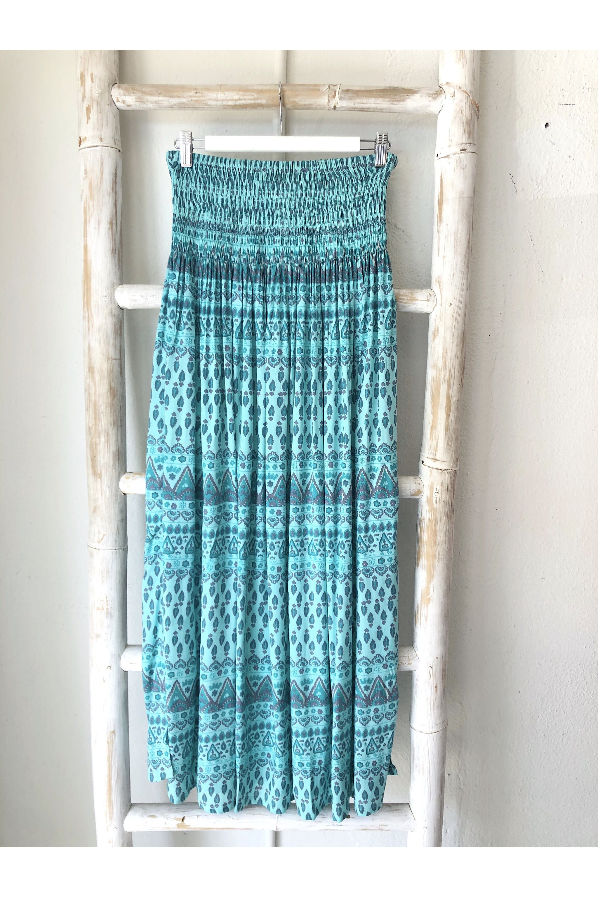 dita skirt long aqua