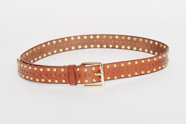 caravan & co sterling leather belt tan